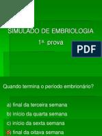 Simulado Embrio 1a Prova