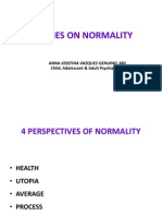 Psychiatry - Theories on Normality 2010