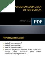 Konsep Sistem Sosial Dan Sistem Budaya