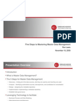 5steps to Master Data Management