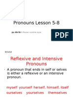 Pronouns Lesson 5-8