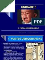 UNIDADE 6 Poboación española