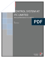 Management Control System at ITC