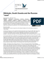 Wiki Leaks, South Ossetia and the Russian _reset