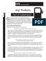 Gas Saving Facts for Consumers