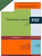 Analise critica planificação Semanal