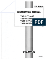 Tajima TME Instruction