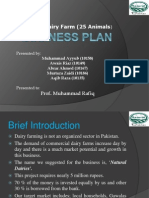 Business Plan Dairy Farm Slide