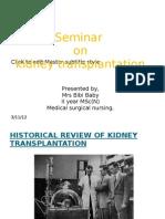 Seminar on Renal Transplantation