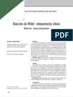 REACCION DE WIDAL 8REACCIONES FEBRILES)