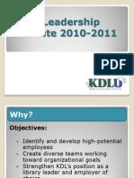 KDL_LeadershipInstitute_2011