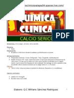 ELECTROLITO CALCIO SERICO
