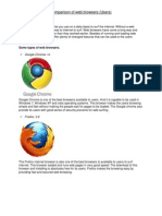Comparison of Web Browsers