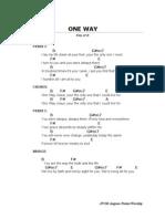 One way (B)