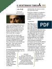 Newsletter. Verve. Newyddion Times