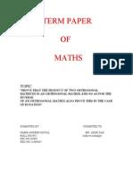 Term Paper of Math