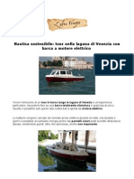 Tour nella laguna di Venezia con barca a motore elettrico