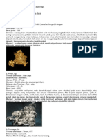 Deskripsi Beberapa Mineral Penting