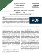 Modeling of Phase Change Material Peak Load Shifting
