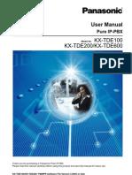 User Guide PBX PANASONIC TDE 100_200_600_versi3