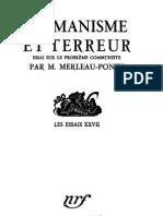 Merleau-Ponty Humanisme et terreur