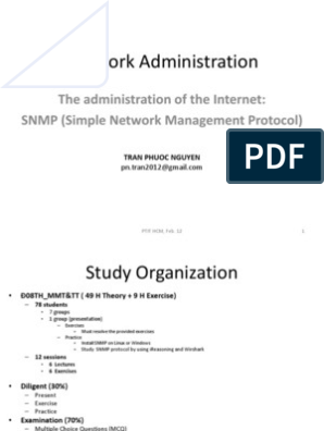 Network Administration (SNMP) | Computer Network