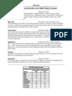 WAT Staging Plan August 2010