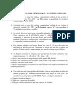 EXERCÍCIOS FUNÇAO 1 GRAU