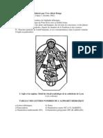 Documents de travail ésotérique élaborés par Yves- Albert Dauge