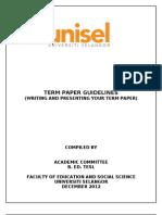 Lampiran Term Paper Guidelines