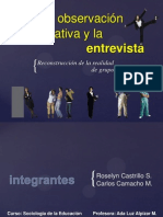 (expo)La observación participativa y la entrevista