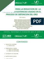 MECANISMO PARA LA REDUCCION DE  LA TOXICIDAD EN SUSTANCIAS USADAS EN EL PROCESO DE OBTENCION DEL ORO
