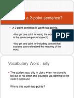 Vocabulary Word Study 2pt Intro