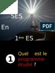 Présentation des SES en première ES 2012