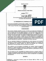 Dec 380 de 2012 Comercializadoras Internacionales Reg Sanc Plan Vallejo y Otros