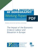Uticaj Krize Na Obrazovni Sistem i Zaposljavanje u Evropi