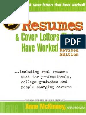 Resumes and Cover Letters | Résumé | Job Interview
