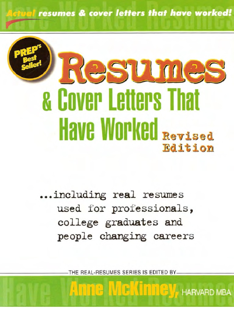 Resumes And Cover Letters  Rsum  Job Interview