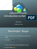 Calculus Lesson