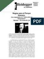 19. Sloterdijk Reglas Para El Parque Humano
