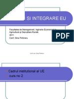 Institutii Si Integrare EU