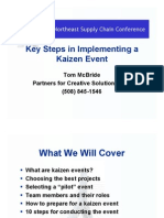 McBride_Key Steps in Implementing a Kaizen Event