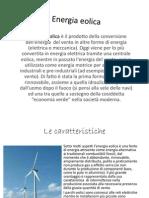 L' Energia eolica