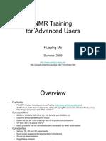 NMR Training 2009