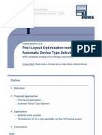 Post Layout Optimization for PDIC