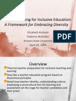 A Framework for Embracing Diversity