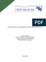 Eléments d'Hydrologie De Surface