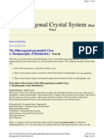 Crystallography - Hexagonal Crystal System Part II