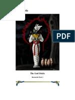 The God Osiris