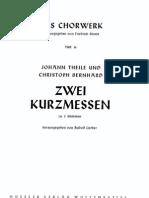 Das Chorwerk 016 - Theile Johann - Bernard Christoph - Two Missae Breves